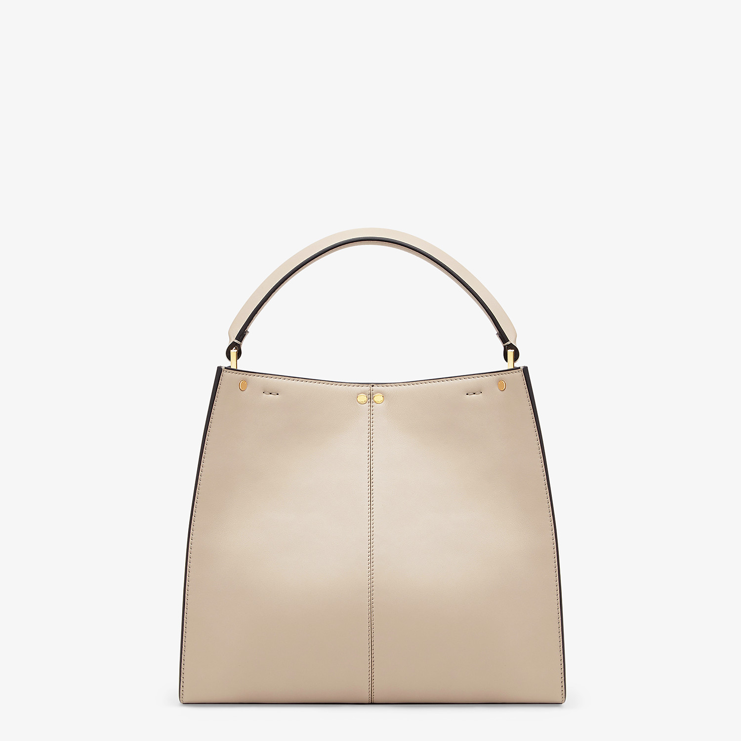FENDI MEDIUM PEEKABOO X-LITE - Beige leather bag - view 4 detail