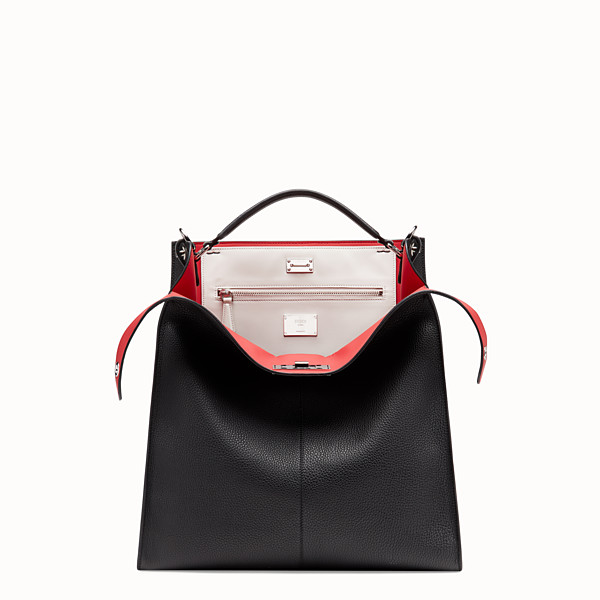 FENDI PEEKABOO X-LITE FIT - Black leather bag - view 1 small thumbnail