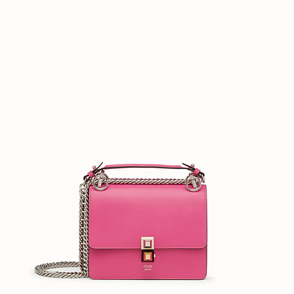 FENDI KAN I SMALL - Mini-sac en cuir fuchsia - view 1 small thumbnail