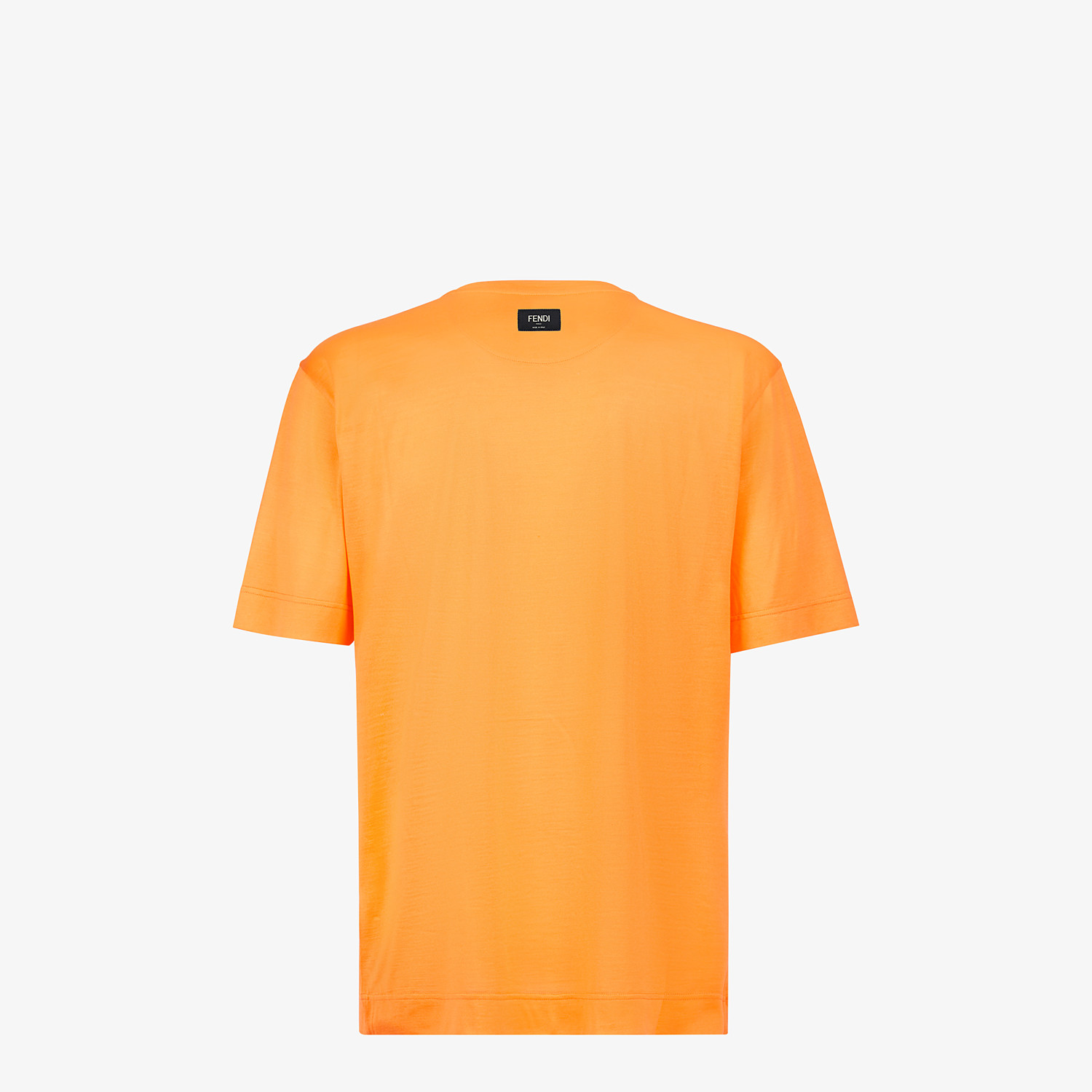 FENDI T-SHIRT - Orange silk T-shirt - view 2 detail
