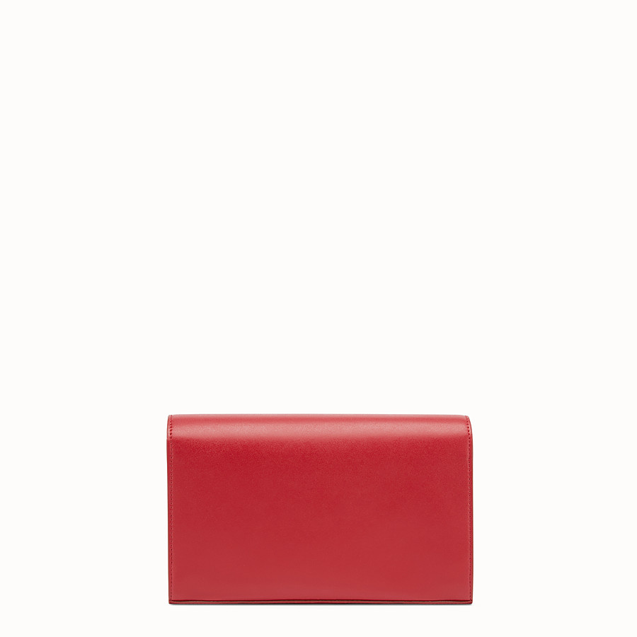 FENDI WALLET ON CHAIN - Mini-bag in red leather - view 3 detail