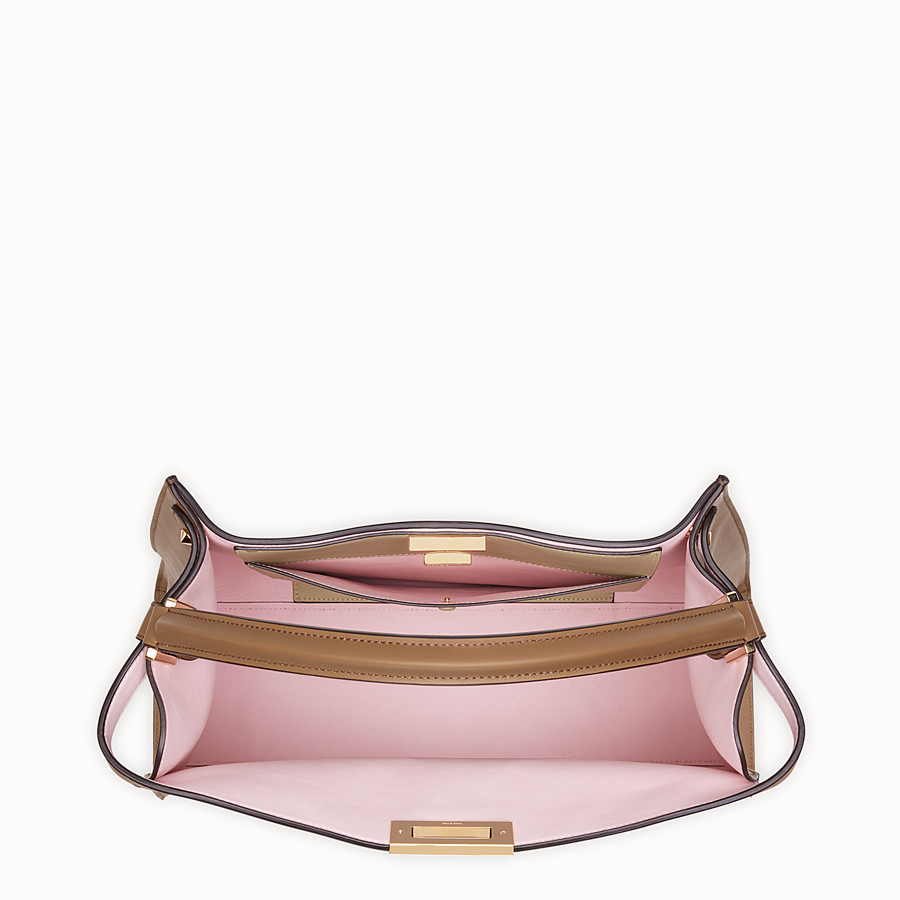 FENDI PEEKABOO X-LITE - Sac en cuir marron - view 6 detail