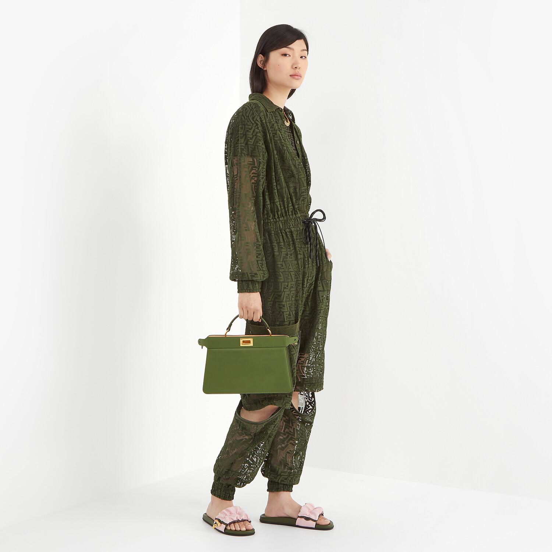 FENDI PEEKABOO ISEEU EAST-WEST - Green leather bag - view 2 detail