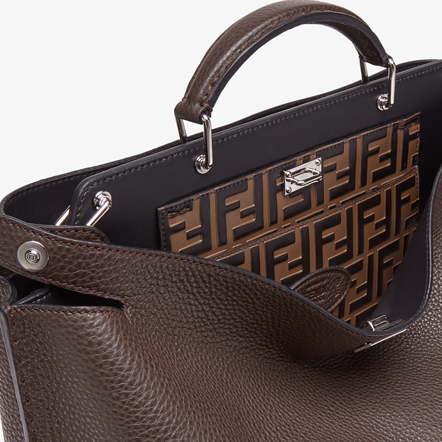 FENDI PEEKABOO ICONIC ESSENTIAL - Brown calfskin bag - view 5 detail