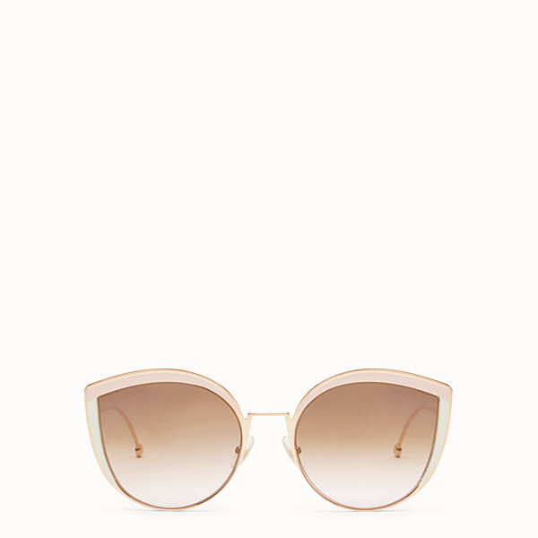 FENDI F IS FENDI - Copper-color sunglasses - view 1 small thumbnail