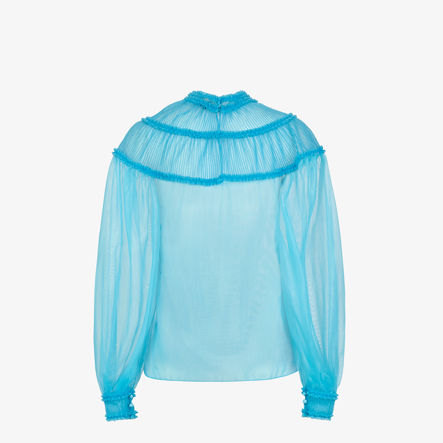FENDI SHIRT - Light blue nylon blouse - view 2 detail