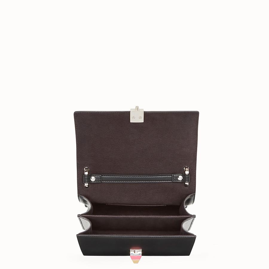 FENDI KAN I SMALL - Black leather mini-bag - view 4 detail