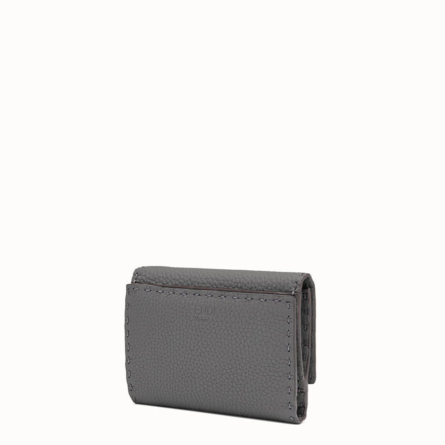 FENDI CONTINENTAL MEDIUM - Medium grey Selleria continental wallet - view 2 detail