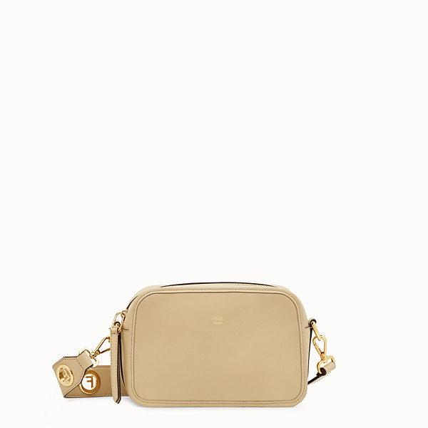 FENDI CAMERA CASE - Beige leather bag - view 1 small thumbnail