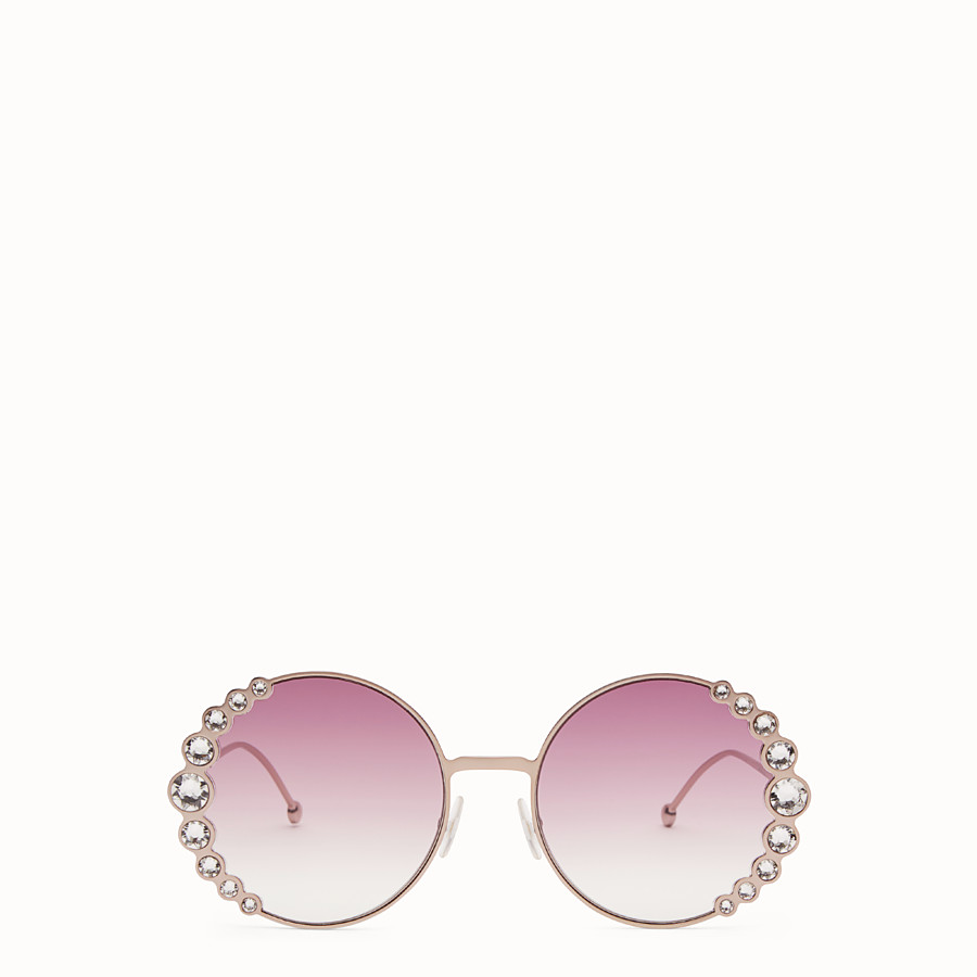 FENDI RIBBONS & CRYSTALS - Pink sunglasses - view 1 detail