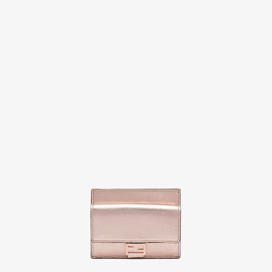 FENDI CARD HOLDER - Pink leather cardholder - view 1 detail