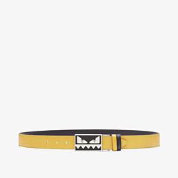 FENDI BELT - Reversible yellow and black belt - view 1 thumbnail