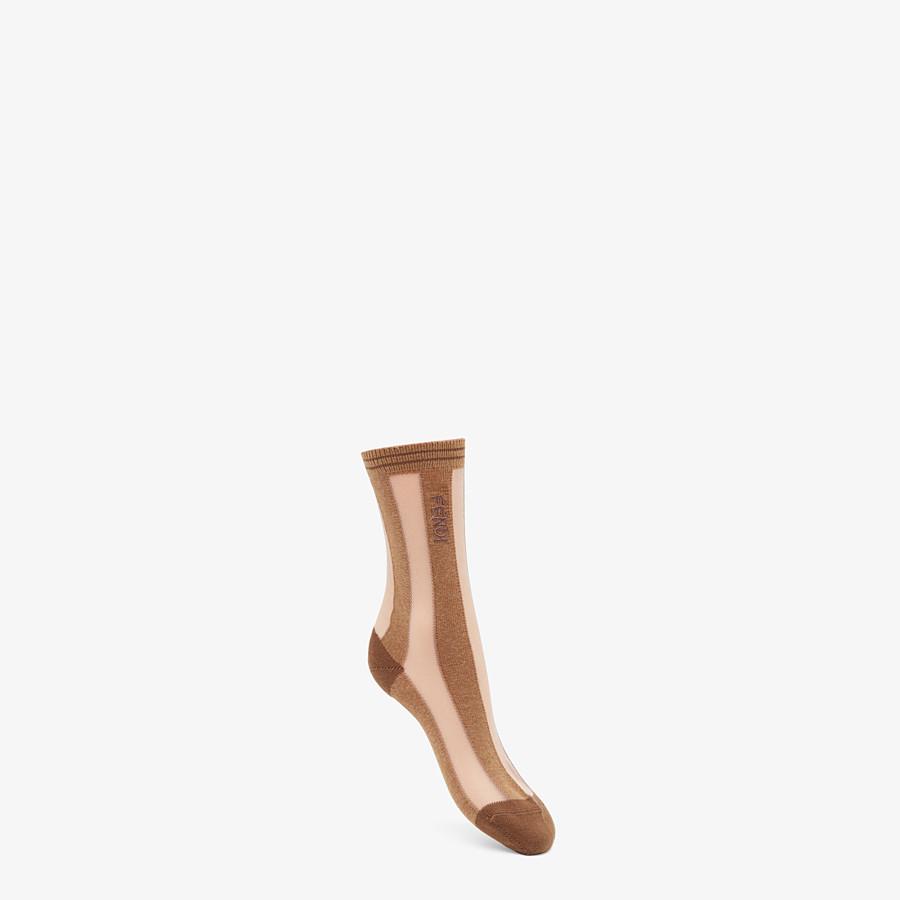 FENDI SOCKS - Beige nylon socks - view 1 detail