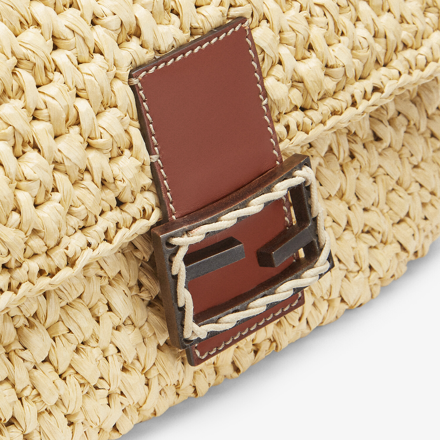 FENDI BAGUETTE - Woven straw bag - view 5 detail