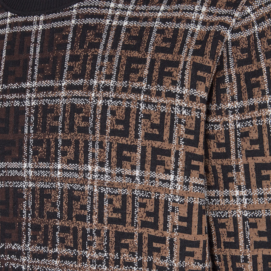 FENDI PULLOVER - Brown wool jumper - view 3 detail