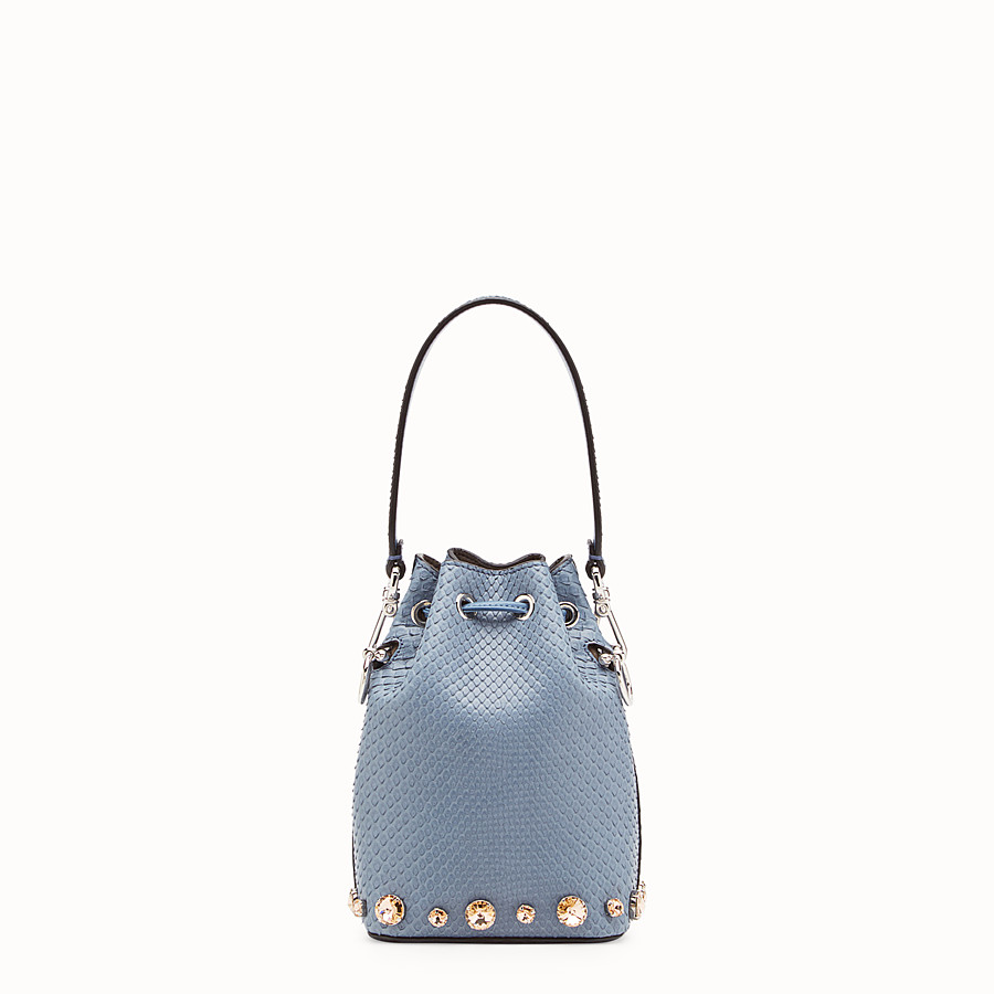 FENDI MON TRESOR - Pale blue python mini-bag - view 3 detail
