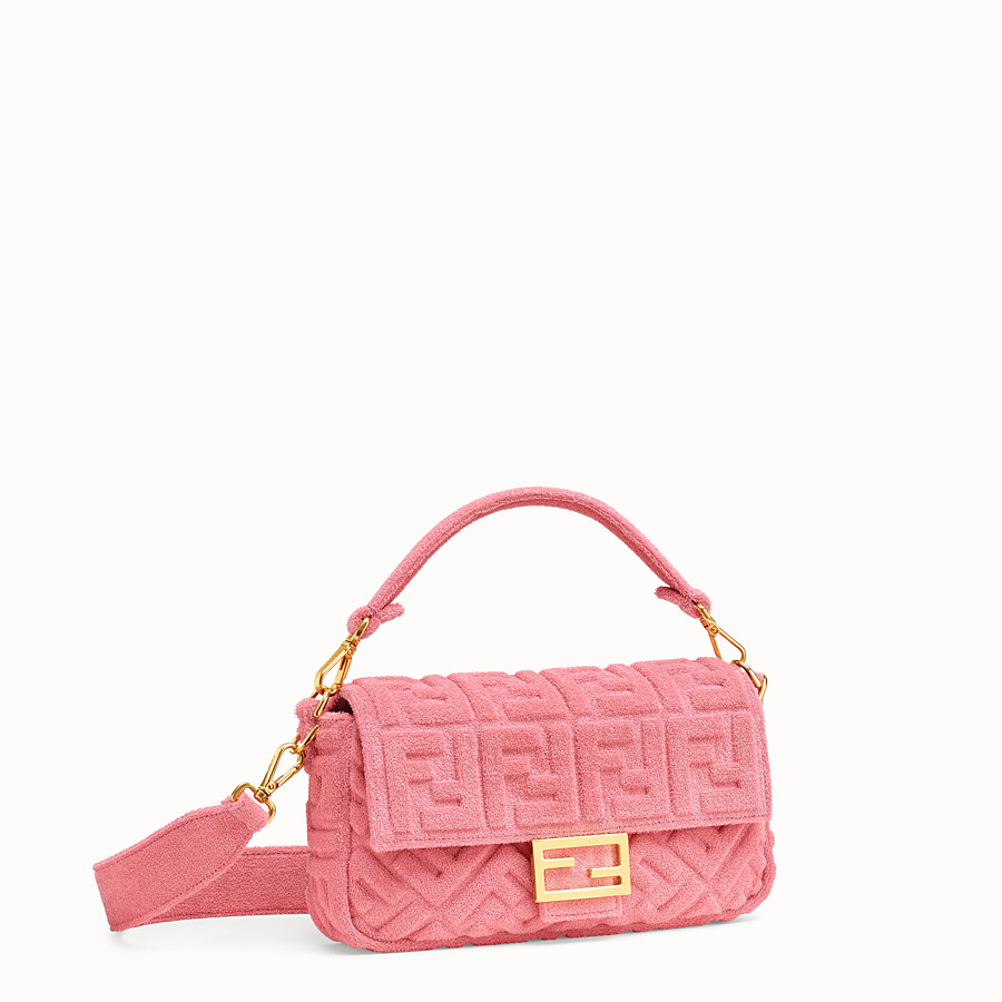 FENDI BAGUETTE - Pink terry bag - view 3 detail