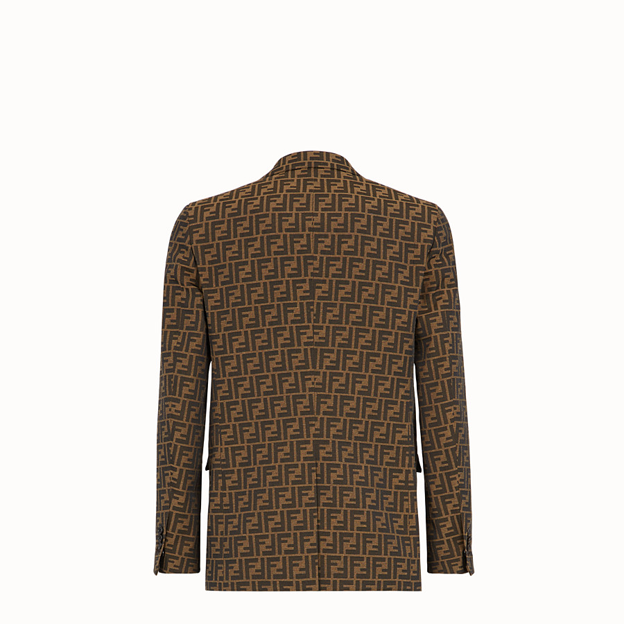 FENDI VESTE - Blazer en tissu marron - view 2 detail