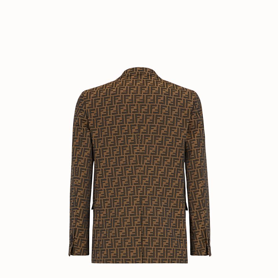 FENDI JACKET - Brown fabric blazer - view 2 detail