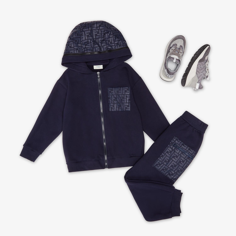 FENDI JUNIOR PANTS - Navy blue fleece and nylon junior pants - view 4 detail