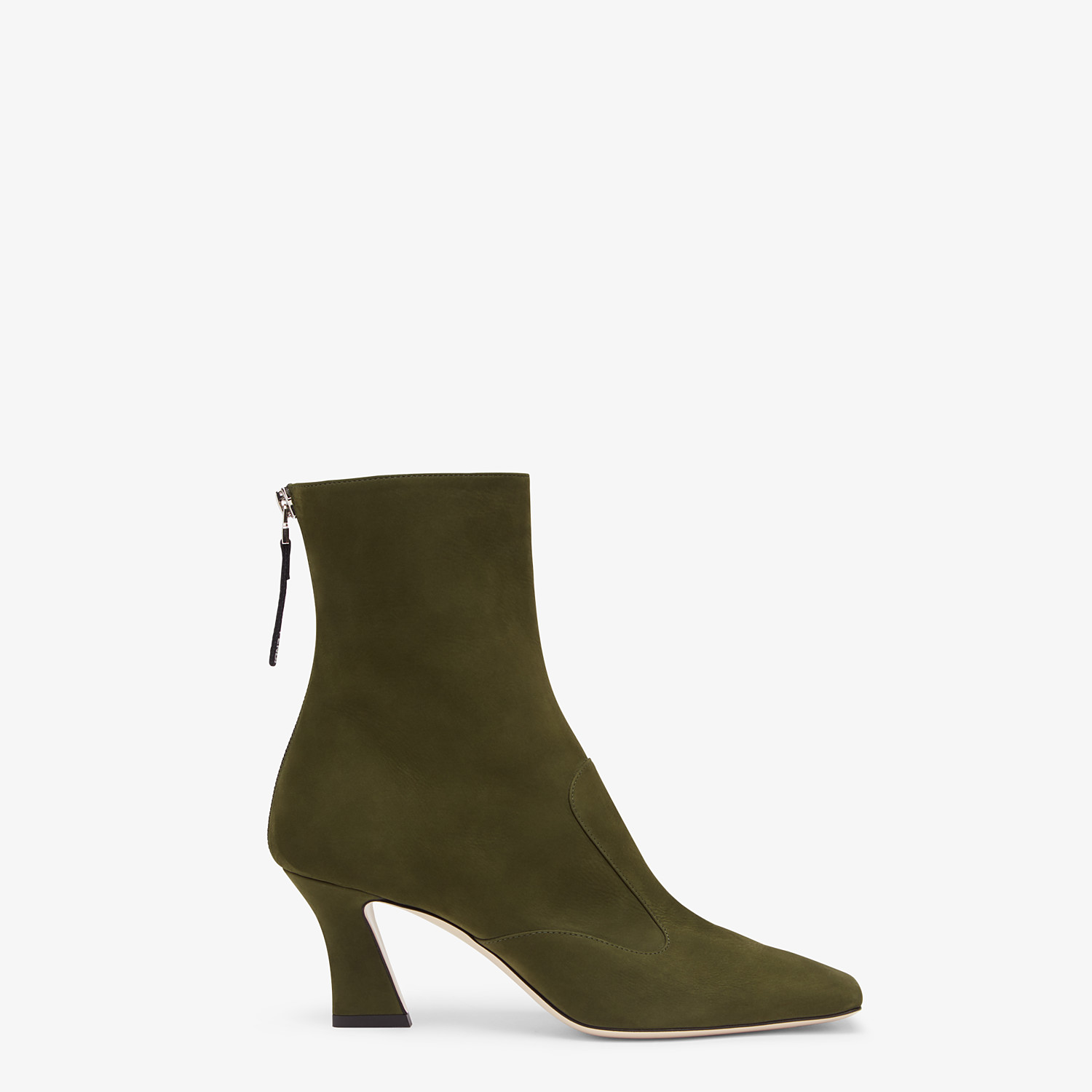 FENDI ANKLE BOOTS - Booties in green nubuck leather - view 1 detail