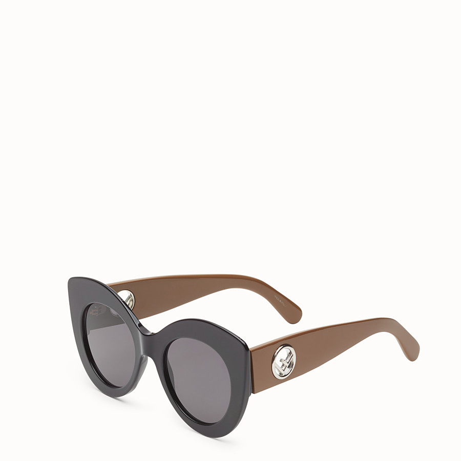 FENDI F IS FENDI - Black and brown sunglasses - view 2 detail