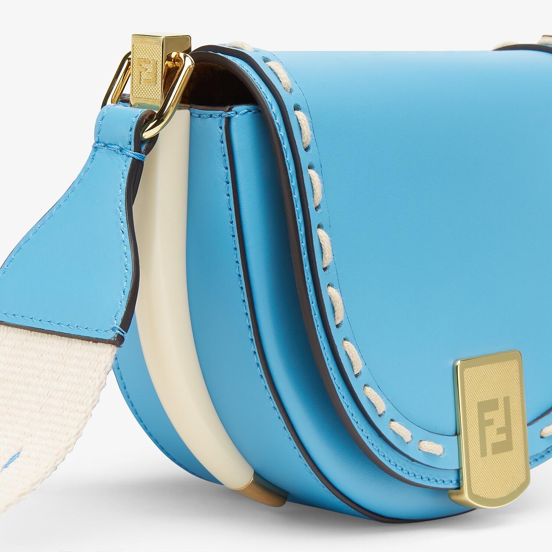 FENDI MOONLIGHT - Blue leather bag - view 6 detail