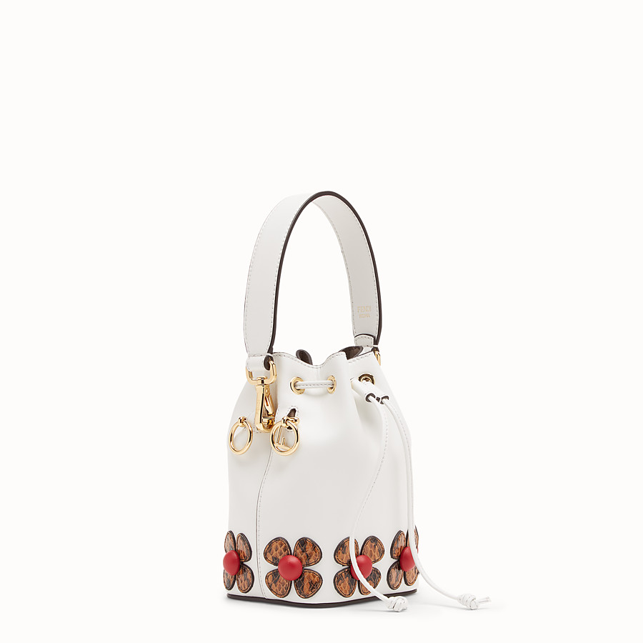 FENDI MON TRESOR - White leather mini-bag with exotic details - view 2 detail