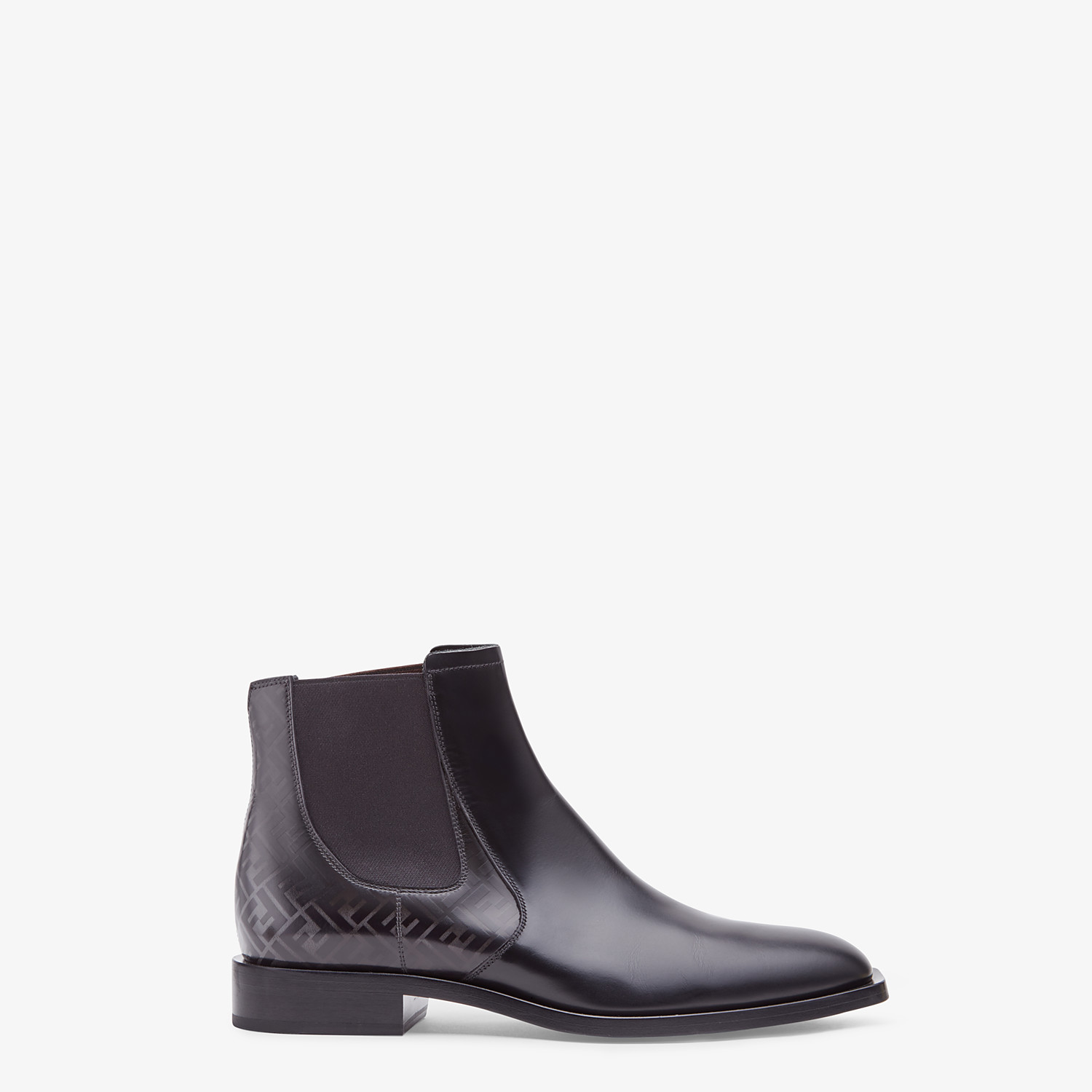 FENDI CHELSEA - Black leather ankle boots - view 1 detail