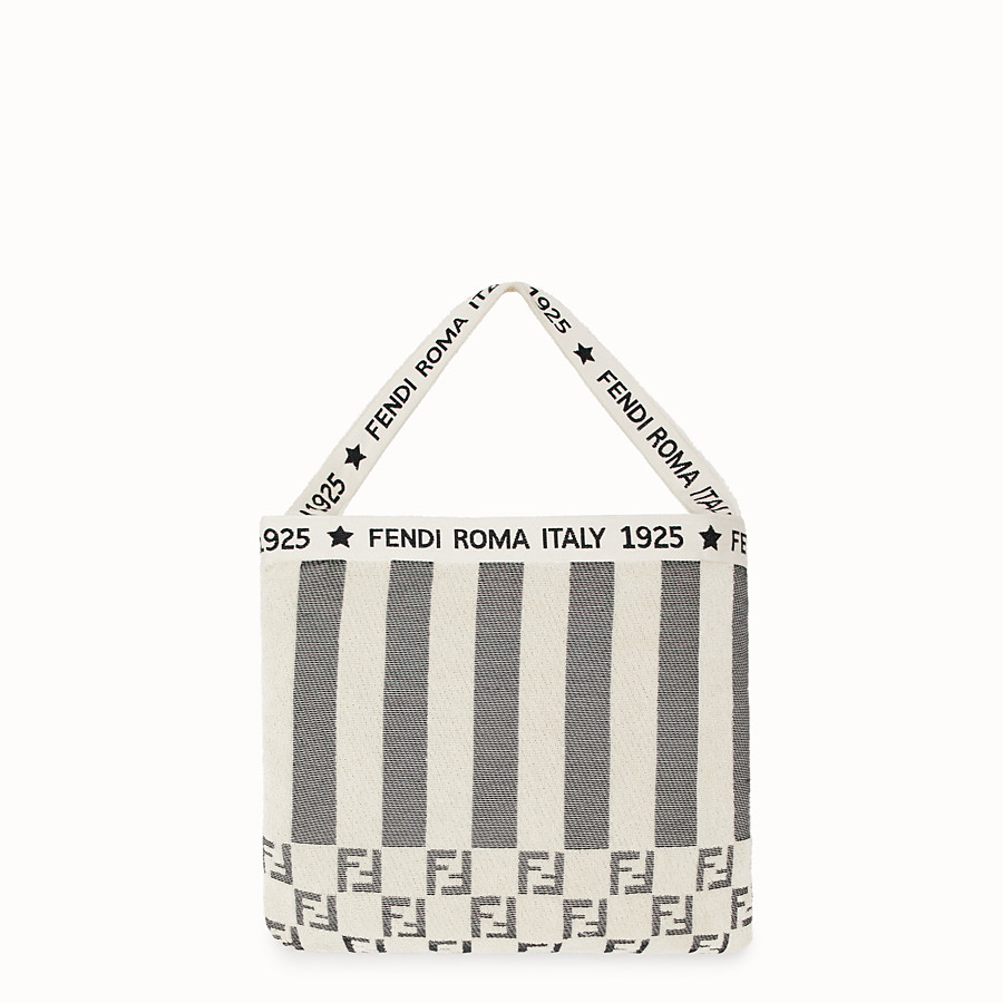 FENDI BEACH TOWEL - Beach towel in white terry fabric - view 2 detail