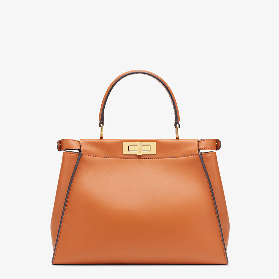 FENDI PEEKABOO ICONIC MEDIUM - Brown leather bag - view 4 detail