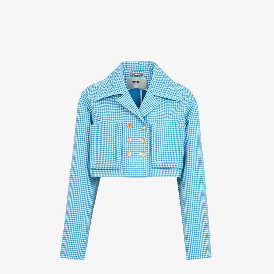 FENDI JACKET - Check wool jacket - view 1 detail
