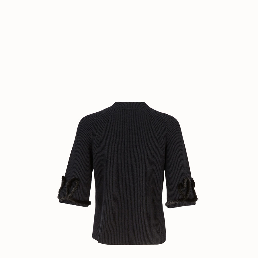 FENDI PULLOVER - Black wool and cashmere jumper - view 2 detail