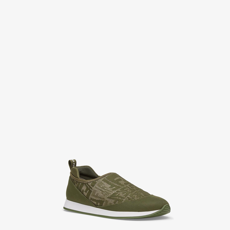 FENDI SIGNATURE - Green fabric sneakers - view 2 detail