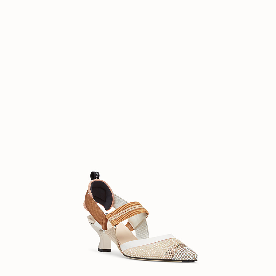 FENDI SLINGBACKS - Colibrì in beige mesh - view 2 detail