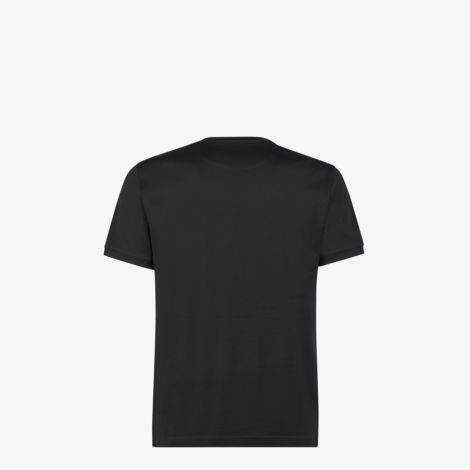 FENDI T-SHIRT - Black jersey T-shirt - view 2 detail
