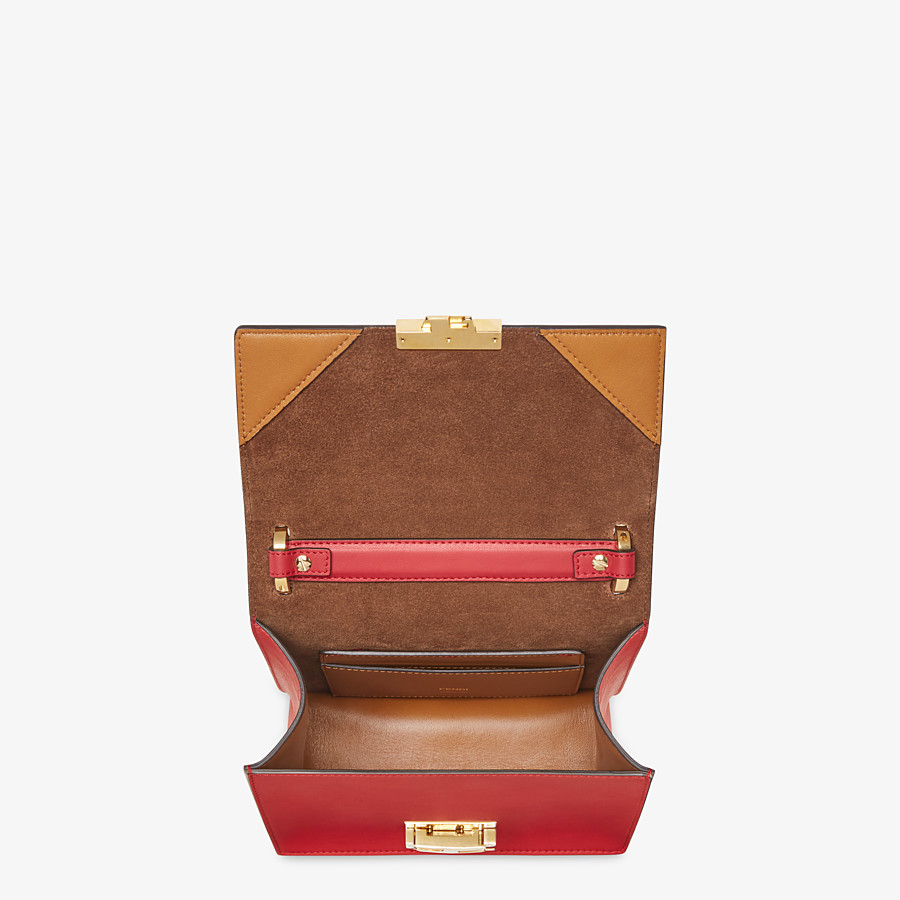 FENDI KAN U SMALL - Red leather mini-bag - view 5 detail