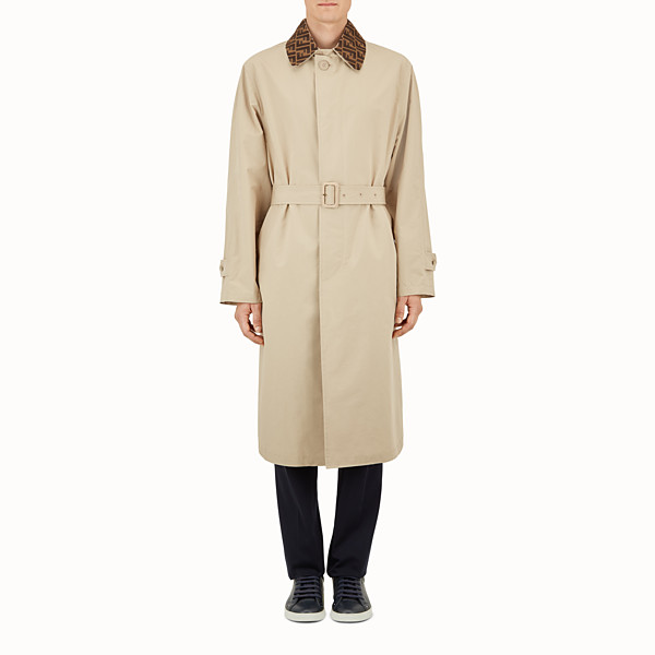 FENDI TRENCH - Beige cotton overcoat - view 1 small thumbnail