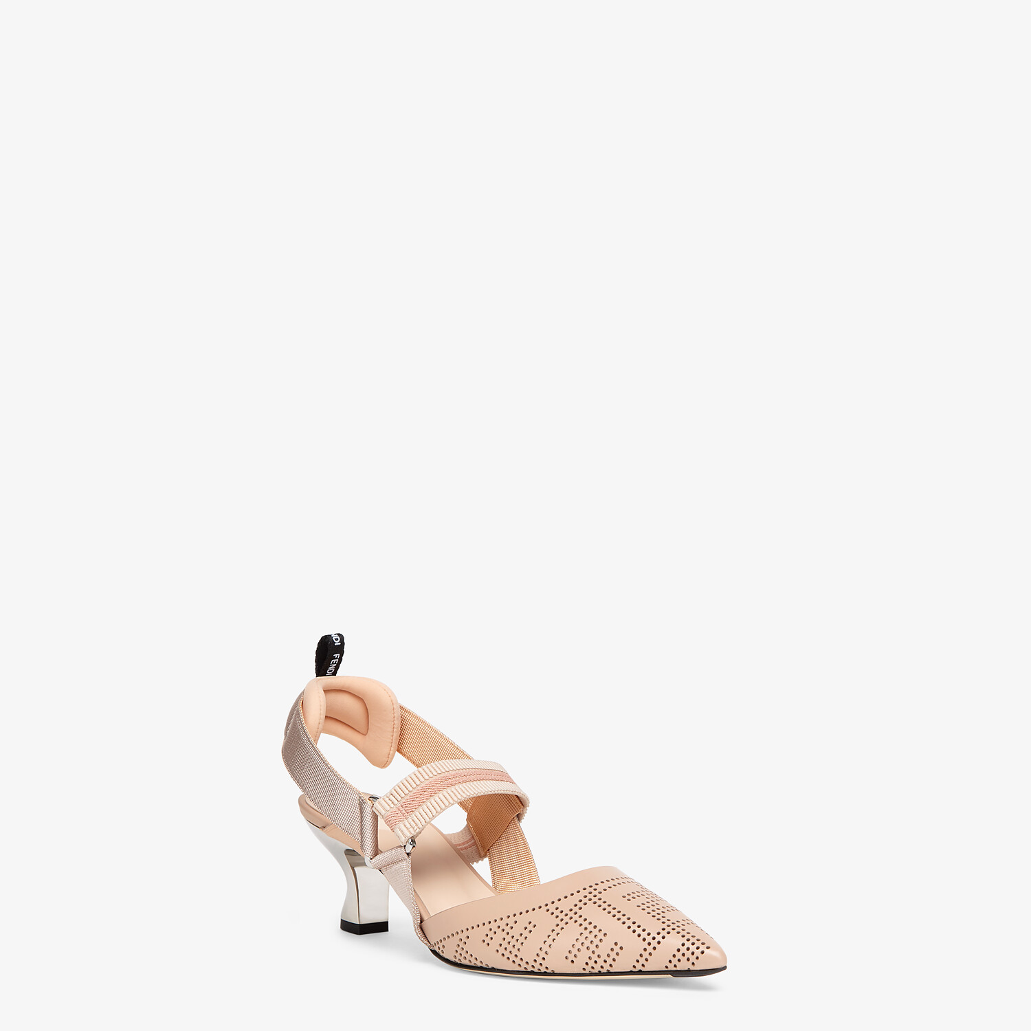 FENDI SLINGBACKS - Pink leather Colibrì slingbacks - view 2 detail