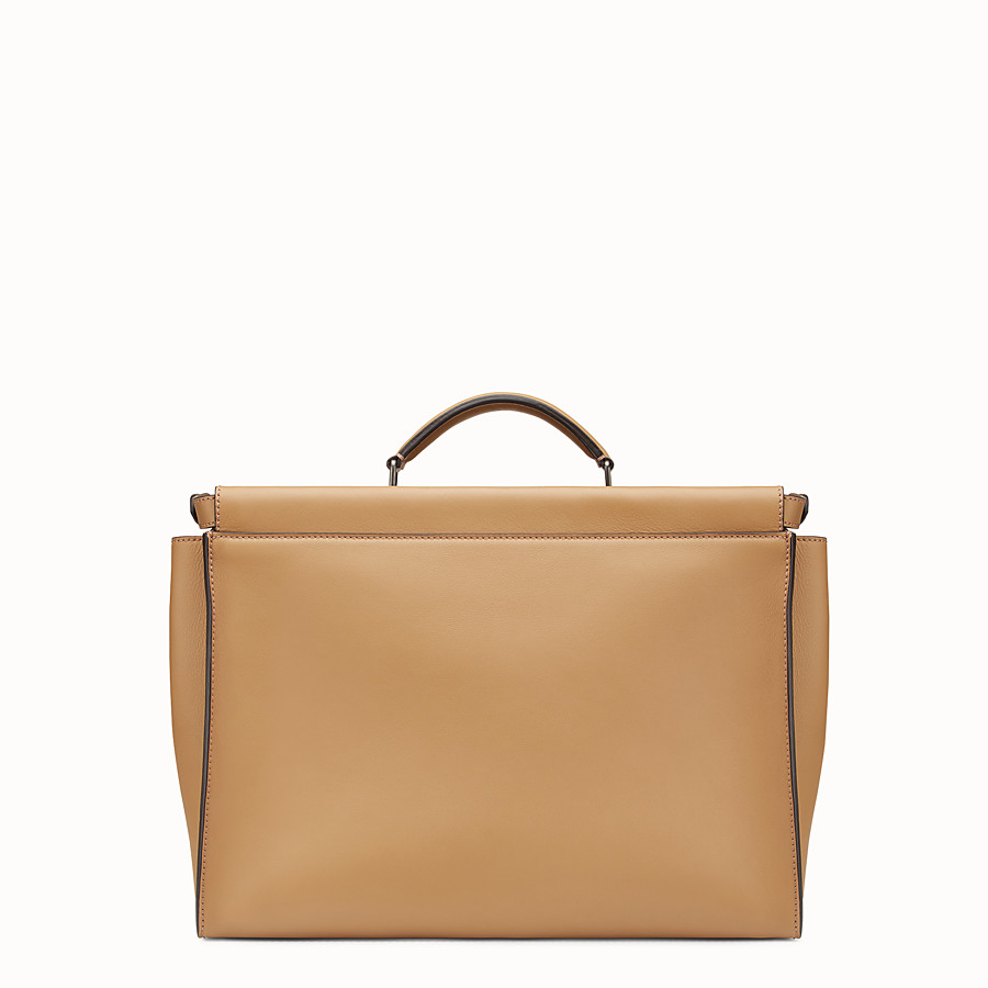 FENDI PEEKABOO - Sand-coloured leather bag - view 3 detail