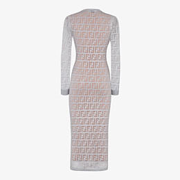 FENDI DRESS - Silver knitted dress - view 2 thumbnail