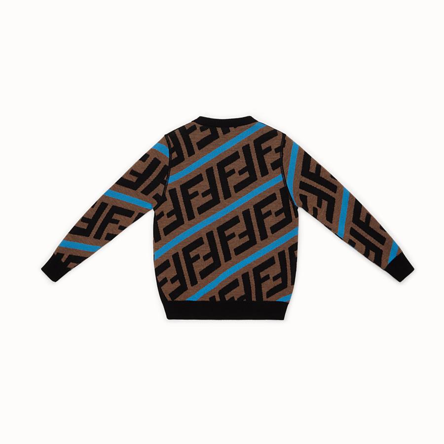 FENDI PULLOVER - Pullover aus Wolle in Braun - view 2 detail