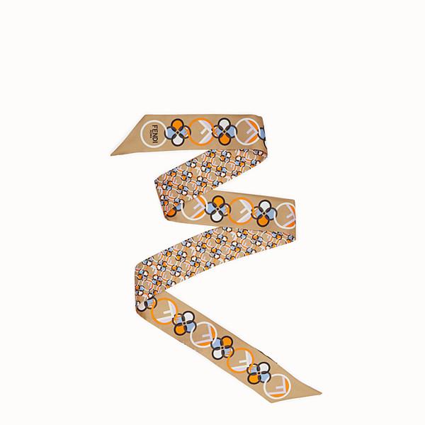 FENDI WRAPPY - Multicolour silk bandeau - view 1 small thumbnail