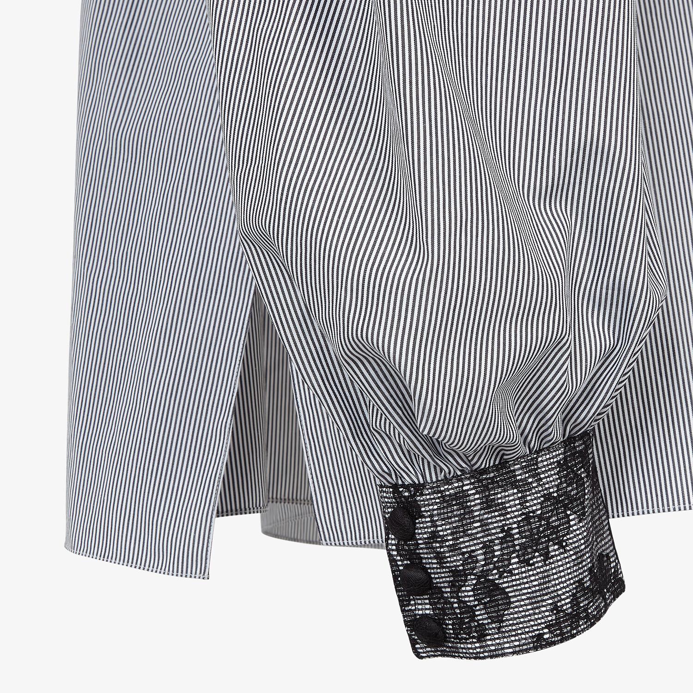 FENDI SHIRT - Striped cotton shirt - view 3 detail