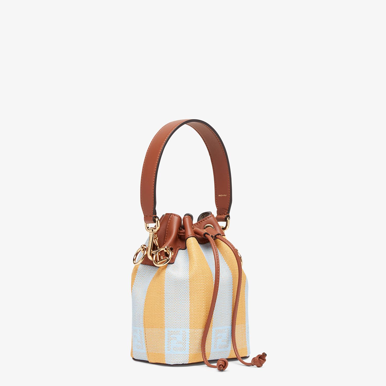 FENDI MON TRESOR - Yellow raffia mini-bag - view 3 detail
