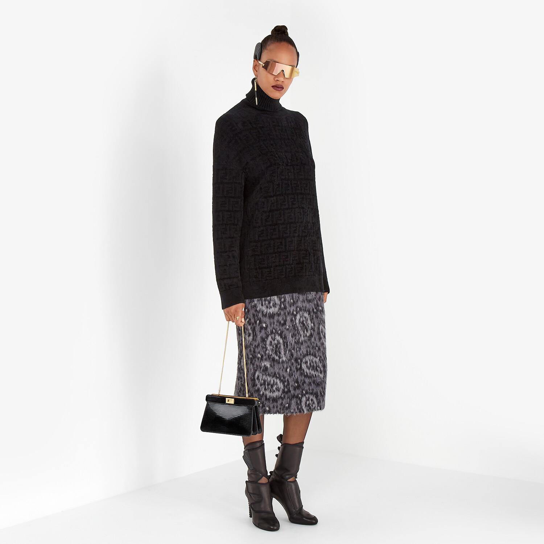 FENDI SWEATER - Black velvet sweater - view 4 detail
