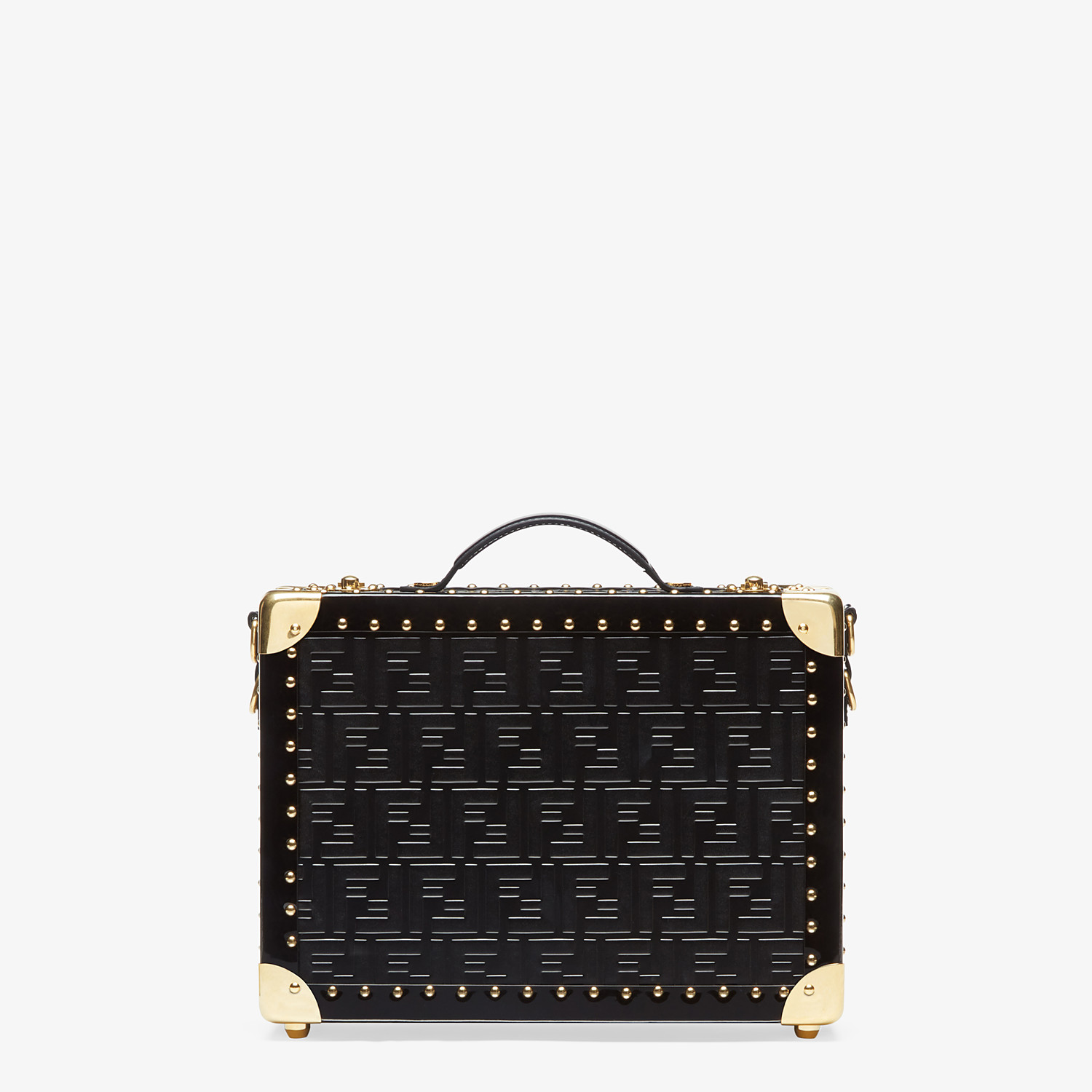 FENDI SMALL TRAVEL BAG - Black leather suitcase - view 1 detail