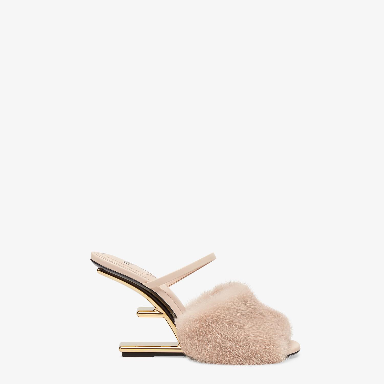FENDI FENDI FIRST - Pink mink high-heeled sandals - view 1 detail