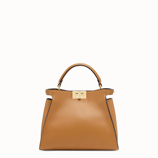 FENDI PEEKABOO ICONIC ESSENTIALLY - Sac en cuir marron - view 1 small thumbnail