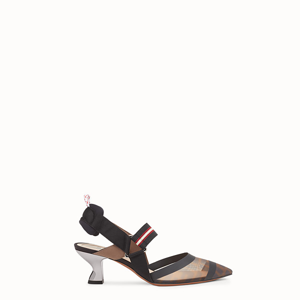 FENDI SLINGBACKS - Multicolor Colibrì in technical-mesh - view 1 small thumbnail